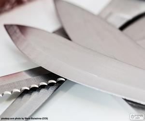 Puzle Folhas de facas de cozinha