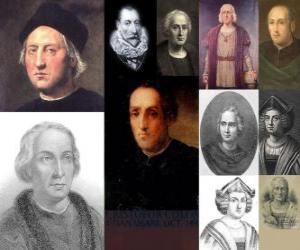 Puzle Fotos de Cristóvão Colombo foi o almirante no comando da expedição que veio para a América em 1492