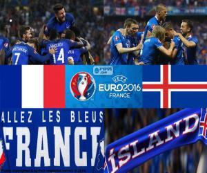 Puzle FR-IS, quartas de final Euro 2016