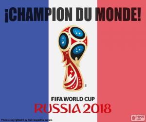 Puzle França, campeão do mundo de 2018