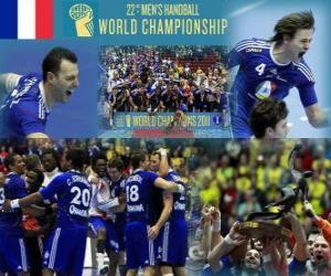 Puzle França 2011 Medalha de Ouro do Mundo de Andebol