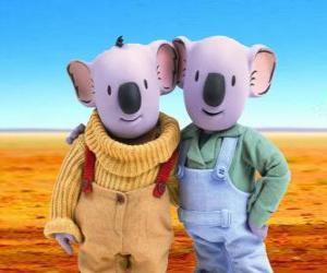 Puzle Frank e Buster, os irmãos coala