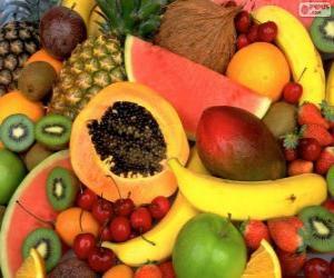 Puzle Frutas tropicais