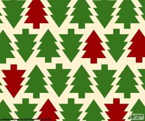 Puzle Fundo de árvores de Natal