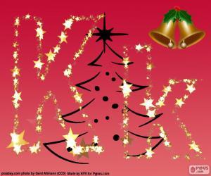 Puzle Fundo de Natal, letra K