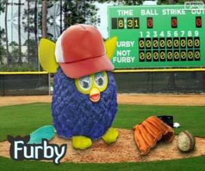 Puzle Furby joga beisebol