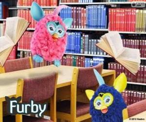 Puzle Furbys na biblioteca