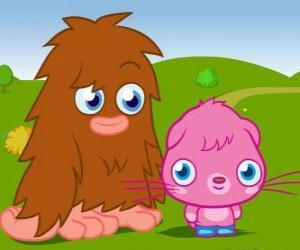 Puzle Furi e Poppet, dois monstros engraçados de Moshi Monsters