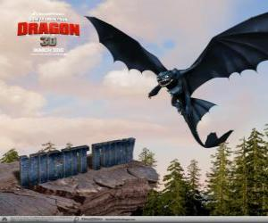 Puzle Fúria da Noite são pequenos dragões que podem voar mais alto, mais rápido e mais longe do que qualquer outro dragão