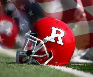 Puzle Futebol capacete (Rutgers Atletismo)