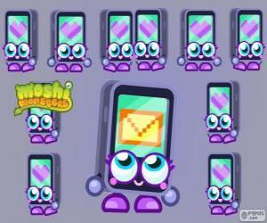 Puzle Gabby é um dos Moshlings, a forma de um iPhone ou um iPad. Série tecno