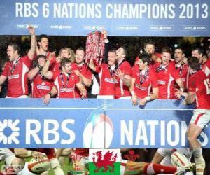 Puzle Galês campeão as seis nações de 2013