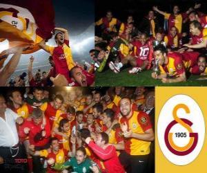 Puzle Galatasaray, campeão Super Lig 2011-2012, liga de futebol da Turquia