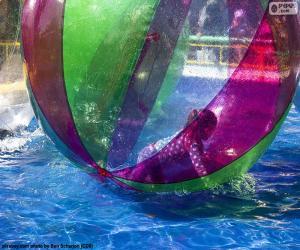 Puzle Garota em uma esfera de água