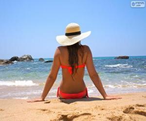 Puzle Garota na praia