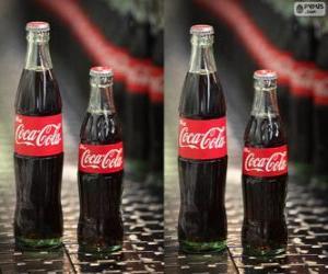 Puzle Garrafas originais de Coca-Cola