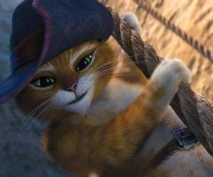 Puzle Gato de Botas das suas aventuras