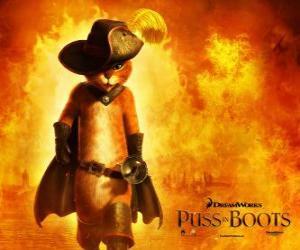 Puzle Gato de Botas, o protagonista do novo filme da DreamWorks