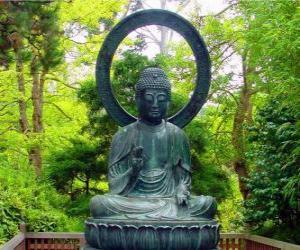 Puzle Gautama Buda sentado