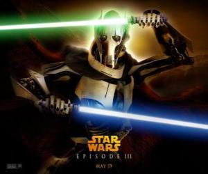 Puzle General Grievous é uma temível e poderoso cyborg que dedicou sua vida à destruição da República e do extermínio dos Cavaleiros Jedi.