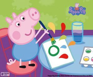 Peppa Pig e números · Puzle George começa a escola