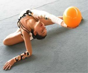 Puzle Ginástica rítmica - Exercício com bola