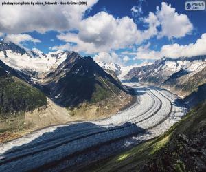 Puzle Glaciar de Aletsch