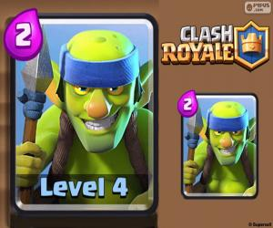 Puzle Goblins Lanceiros do Clash Royale
