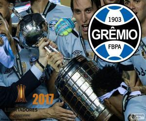 Puzle Grêmio, campeão da Libertadores de 2017