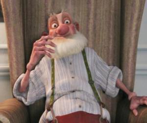 Puzle Grand-Santa, o velho pai casmurra de Santa que odeia o mundo moderno