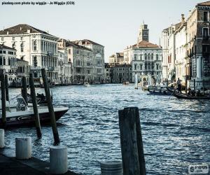 Puzle Grande Canal de Veneza, Itália