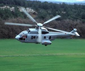 Puzle Grande helicóptero Cougar EC725