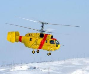 Puzle Grande helicóptero Kamov Ka-32A11BC