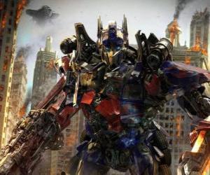 Puzle Grande robô Transformer da Disney