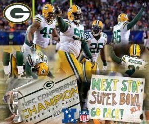 Puzle Green Bay Packers Campeão NFC 2010-11