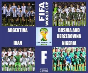 Puzle Grupo F, Brasil 2014