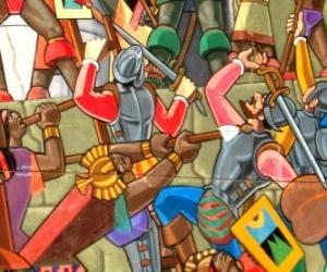 Puzle Guerreiros Inca lutando
