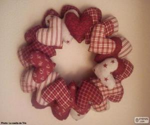 Puzle Guirlanda de Natal de corações
