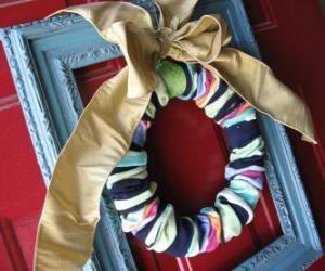 Puzle Guirlanda de Natal feitos com meias