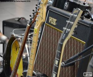 Puzle Guitarras e amplificador