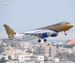 Puzle Gulf Air, companhia aérea nacional do Reino do Bahrein