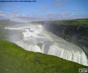 Puzle Gullfoss, Islândia