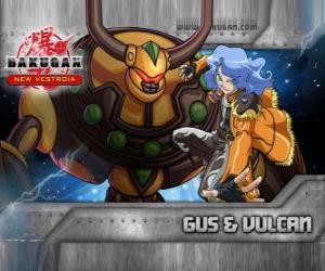 Puzle Gus e Bakugan Vulcan