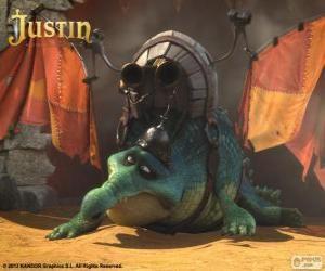 Puzle Gustav. Um crocodilo que quer voar e ser um dragão