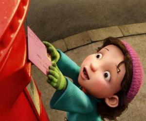 Puzle Gwen, a menina quem Arthur deve entregar o presente de Natal