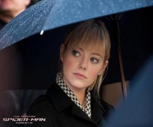 Puzle Gwen Stacy no funeral de seu pai