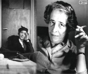 Puzle Hannah Arendt, filósofa política alemã de origem judaica