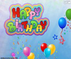 Puzle Happy Birthday, feliz aniversário