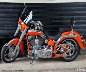 Puzle Harley Davidson laranja