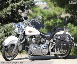 Puzle Harley-Davison branca